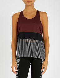 Monreal London Racerback Stretch Jersey Top Cocoa