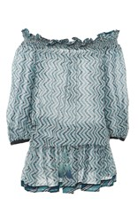 Talitha Zig Zag Off Shoulder Tunic Print