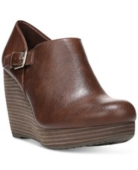 Dr. Scholl's Honor Platform Wedge Booties Women's Shoes Whiskey