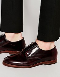 Hudson London Clay Derby Shoes Red