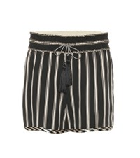 Etro Striped Shorts Black