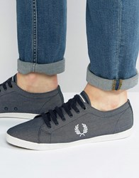 Fred Perry Kingston Chambray Trainers Navy