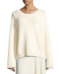 The Row Crisac Knit Bell Sleeve Sweater Neutral