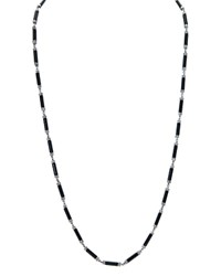 Ralph Lauren Tubular Bead Necklace 32 Black Hematite
