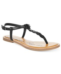 American Rag Krissy Braided Flat Sandals Only At Macy's Women's Shoes Black