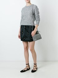 N 21 No21 Embellished Mini Skirt Black