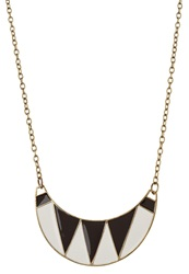Evenandodd Necklace Gold Black White