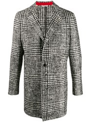 Manuel Ritz Single Breasted Checked Coat 60