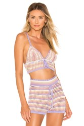 House Of Harlow X Revolve Canyon Bralette Lavender