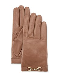 Portolano Napa Leather Cashmere Lined Gloves W Horsebit Stormy Sky