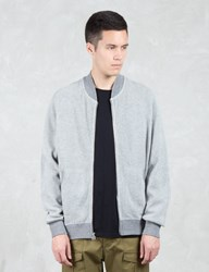 Wings Horns Honeycomb Knit Bomber Jacket