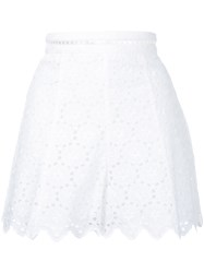 Zimmermann Broderie Anglaise Shorts Women Cotton 1 White
