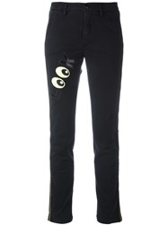 History Repeats 'Look' Patch Slim Fit Trousers Black