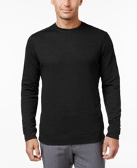 Tasso Elba Men's Big And Tall Faux Suede Shoulder Patch Sweater Only At Macy's Deep Black
