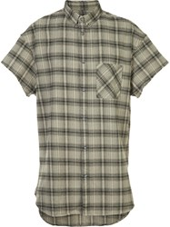 Zanerobe Checked Shortsleeved Shirt Green