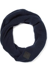 Canada Goose Ribbed Cashmere Blend Scarf Midnight Blue