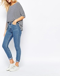 Monki Highwaisted Skinny Jean Blue