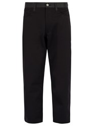 Junya Watanabe Reflective Panelled Cropped Trousers Black