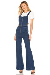 Rolla's Eastcoast Flare Overall Blue