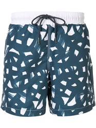 Venroy All Over Print Swim Shorts Blue