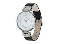Anne Klein 109169Wtbk Round Dial Leather Strap Watch Black Analog Watches