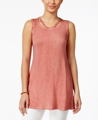 Styleandco. Style And Co. Sleeveless Burnout Dye Top Only At Macy's Dusty Rose