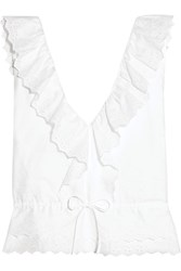 Vanessa Bruno Giwete Broderie Anglaise Cotton Top White