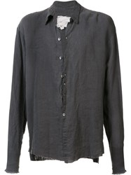 Greg Lauren Loose Fit Shirt Grey