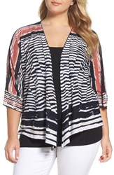 Nic Zoe Plus Size Women's Print Four Way Cardigan Multi