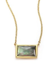 Ippolita Rock Candy Gelato Black Shell Clear Quartz And 18K Yellow Gold Pendant Necklace Gold Multi
