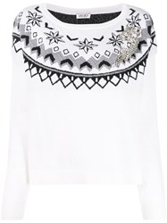 Liu Jo Embroidered Long Sleeve Jumper 60