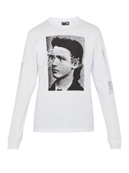 P.A.M. Ideas Are Real Print Long Sleeved Cotton T Shirt White