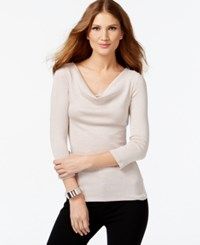 Inc International Concepts Draped Cowl Neck Top Only At Macy's