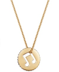 Eliot Danori Necklace 18K Gold Plated Musical Note Pendant Necklace