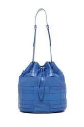 Christopher Kon Pannier Weave Leather Bucket Bag Blue