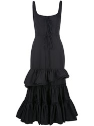 Brock Collection Tiered Ruffle Dress Black