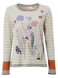 White Stuff Fennel Embroided Jumper Multi Coloured Multi Coloured