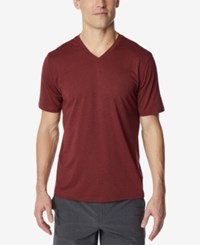 32 Degrees V Neck T Shirt Red
