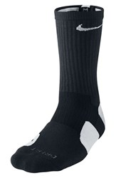 Men's Nike 'Elite Basketball' Crew Socks Black White