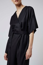 Kimono Wrap Jumpsuit By Boutique Navy Blue