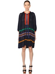 Sonia Rykiel Oversized Embroidered Cotton Voile Dress