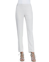 Donna Karan Cropped Tailored Pegged Legged Pants Chalk