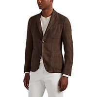 Barneys New York Slub Linen Two Button Sportcoat Brown