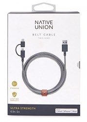 Native Union Belt Twin Head Charging Cable Navy