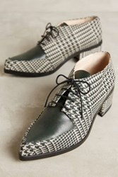Anthropologie Lenora Plaid Tessa Oxfords Verde W Capra Verde