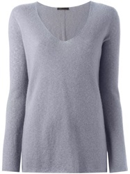 The Row V Neck Sweater Pink And Purple