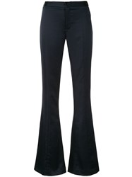 Maggie Marilyn Mid Rise Flared Trousers Blue