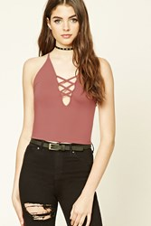 Forever 21 Strappy Cutout Cropped Cami