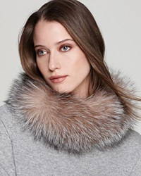 Surell Fox Fur Collar Headband Crystal
