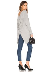 1.State Knot Long Sleeve Top Gray